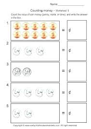 Learning Money Worksheets Printable Teaching To Grade Counting ...