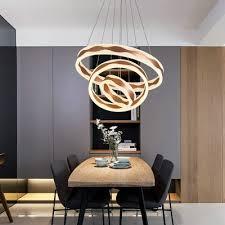 tiered post modern led ring pendant light 1 light 2 light 3