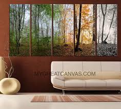 extra large wall art 5 set canvas 4 season forest four season forest art canvas