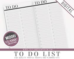 to do lis midori to do list inserts classic collection midori travelers
