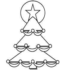 Small Picture Easy Christmas Coloring Page Free Download
