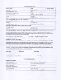patient information form patient forms needed before starting a physical therapy session