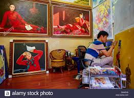 china guangdong province shenzhen dafen oil painting village dafen village is one