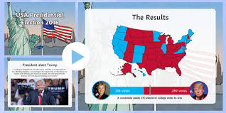 presidential elecion results usa presidential election 2016 results powerpoint