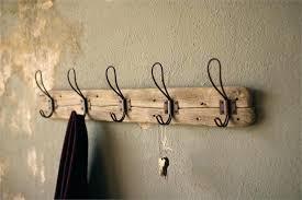 Wall Hook Rack Coats Impressive Wire Wall Hooks Recycled Wood Coat Rack Vintage Wire Hooks Gridwall