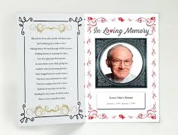 Funeral Remembrance Cards Remembrance Cards For Funerals Memorial Template Free Mass