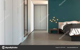 Schlafzimmer Modernen Stil Mit Schränken Und Möbeln Wohnung