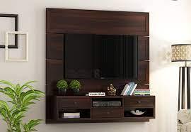 snapple wall mount tv unit walnut