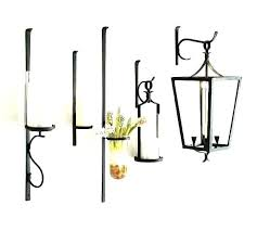 wall mounted candle lanterns iron holder candles scroll hanging metal outdoor