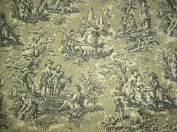 remnant waverly country life toile vintage tea stained 3 6yds