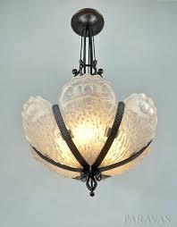 art deco glass chandelier art chandelier and french opalescent glass art glass chandelier art deco milk