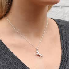 original personalised gold and sterling silver unicorn necklace 3