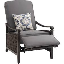 Patio Recliner Chairs La Z Boy Carson Chestnut And Espresso All Weather Wicker Outdoor