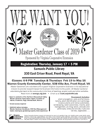 consider joining the local class session for the virginia cooperative extension vce master gardener program