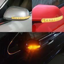 Car Turn Signal Lights Us 7 31 45 Off Sitaile 2pcs 18 Led Car Turn Signal Light Auto Rear View Mirror Indicator Lamp Soft Flashing Universal Yellow Amber Light In Signal
