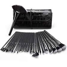 makeup brush set uy 32 pieces professional makeup brushes essential cosmetics with case face