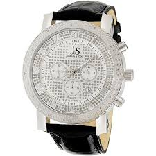 joshua sons mens diamond chronograph watch has lots of joshua sons men s diamond chronograph watch