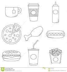 Manifesto Della Raccolta Di Logo Degli Alimenti Industriali