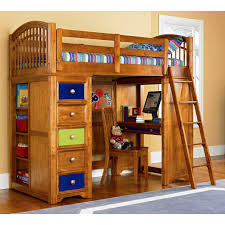 wooden loft bunk bed for kids with desk and storage decofurnish bunk bed with stairs and drawers and desk bunk bed with desk drawers and trundle