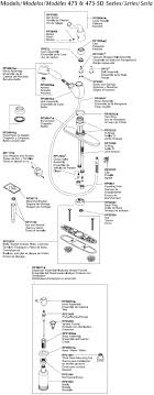 parts diagram for delta single handle kitchen faucet