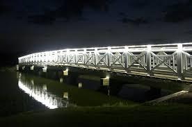24v super bright led strip light bridge lighting example