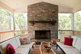 installing stone fireplace mantel hearth deck transitional red pillow wood slab coffee table diy surround