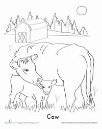 Small Picture Calf Coloring Page Worksheets Kindergarten and Homeschool