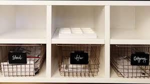 Home office desk organization Elegant Paper Storage Solution Dotrocksco 15 Easy Desk Organization Ideas How To Organize Your Home Office