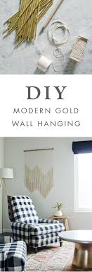 We love the idea of adding this DIY Modern Gold Wall Hanging to any room of  your home! This boho decor project would looking stunning hung above your  bed, ...