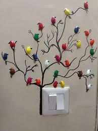 handmade pista shell bird for wall decoration