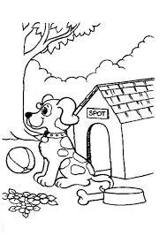 Hond Met Hok Kleurplaat Kleurplaat Honden Kleurplaten En Huisdieren