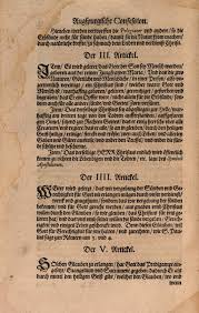 articles 3 4 5 of the augsburg confession in the book of concord of 1580