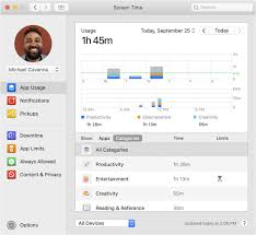 Mac Os Versions Chart Use Screen Time On Your Mac Apple Support