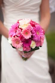 flowers for a beach wedding. beach wedding bouquet pink gerbeera daisies and roses flowers for a o