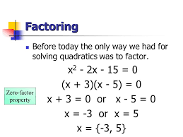 solving quadratic equations by factoring basic examples