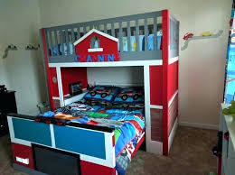 firehouse bunk bed tent kids truck beds firetruck toddler fire bus for with slide f