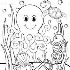 Small Picture Under The Sea Colouring Pages For Preschoolers
