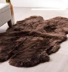 large brown sheepskin rug