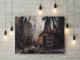 cabin print large wall art print cabin fine art photography print nature photography neutral wall decor cabin forest ph040