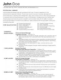 Horticulture Resume Samples For Jobs 30 Cover Letter Professional