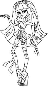 Monster High Printable Coloring Pages Lovely Monster High Coloring
