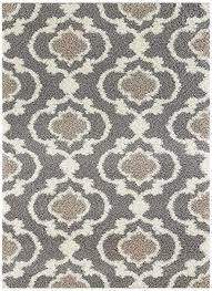 com rug cozy moroccan trellis indoor area rug 5 in gray and cream decor 12