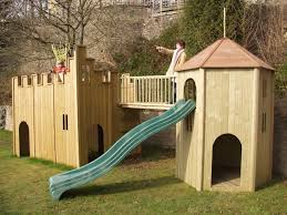 play castle playhouse toy barn outdoor wooden playhouse with slide