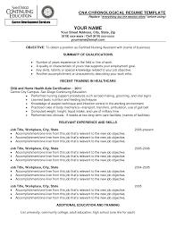 cna sample resume