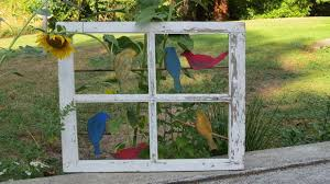 novel garden decor from old windows and doors