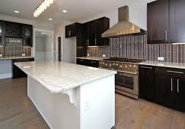 white painting cabinet with black granite top dark wooden kitchen cabinet doors white subway tile backsplash