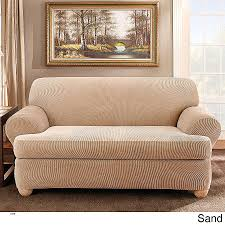 wing chair slipcovers with separate cushion cover elegant sure fit stretch pique 3 piece t cushion