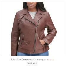 men s leather now plus size outerwear starting at 42 24 now