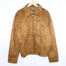 emporio collezione faux suede brown jacket 2