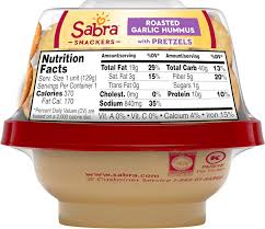 sabra grab n go garlic hummus with pretzels 4 3 oz amazon grocery gourmet food